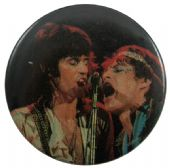 The Rolling Stones - 'Mick and Ronnie' Button Badge